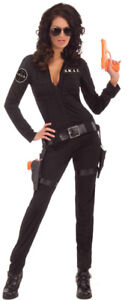Adult Female Swat Costume Plus Accessory - Brand New Condition
