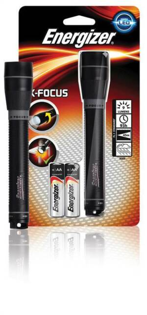 Energizer X-Focus metal torch 2x AA Compact and lightweight