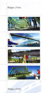 Canada Stamps - Bridges 50c (Set of 4) 2000 Scott No. 2100-2103