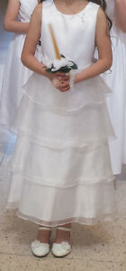 Special Occasion white dress for First Communion, Flower Girl