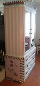 Hand-painted, Mackenzie-Childs Inspired Armoire Oakville / Halton Region Toronto (GTA) image 4
