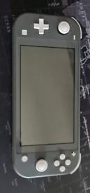 Grey Nitendo switch lite
