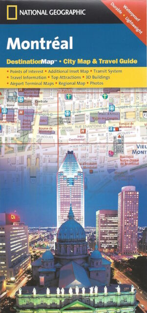 National Geographic Montreal City Map *FREE SHIPPING - IN STOCK - NEW*