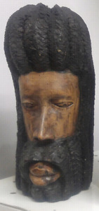 Wood carved heads $55