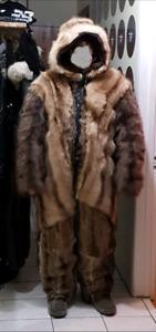 Fur overall / full fur body suit  / habit de neige en fourrure