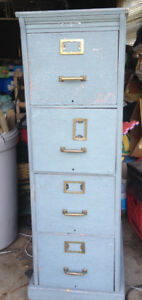 Antique Wood File Cabinet