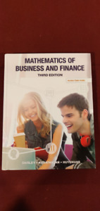Mathematics of Business and Finance Textbook. Third Edition