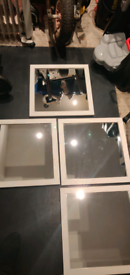 Set of 4 White Wall Mirrors
