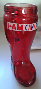 Red Molson Canadian 32 on Boot Mug