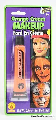 Cream Halloween Makeup - ORANGE Cream Makeup Face Halloween Tube Pretend Costume Dress Stage FREE SHIPPIN