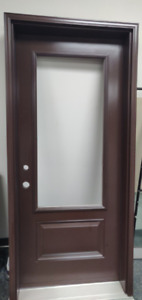 Residential Insulated Wood Door Wooden Frame