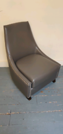 Faux leather Chair with stud detail