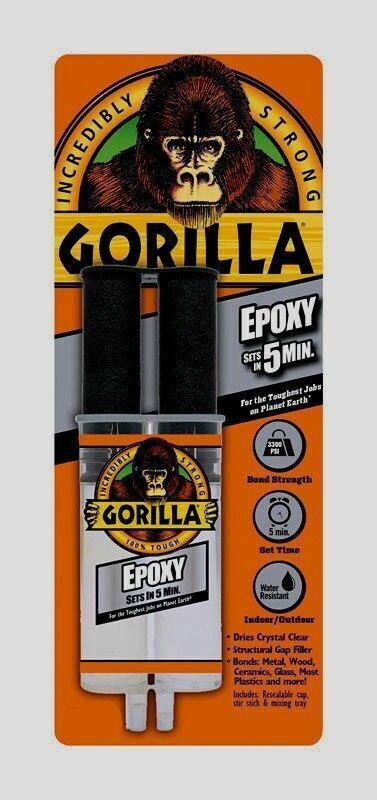 Gorilla Glue 42001 Gorilla Epoxy Syringe