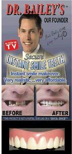 SECURE INSTANT SMILE False Fake Cosmetic Dentures Teeth MEDIUM