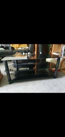 FREE Glass TV Stand Black