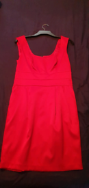 Red satin style dress