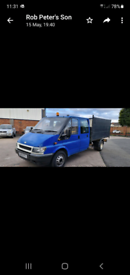 Transit tipper with arborists body
