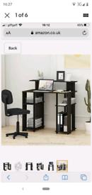 Furinno Computer Desk, Walnut