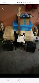 Burswood guitar amp and stand plus kustom amp and 3 metre jack