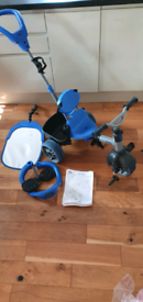Trike Little takes 4 in 1 blue from 9 to 36 month