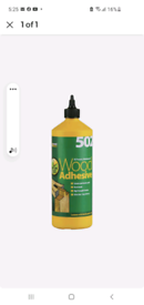 EVERBUILD 502 ALL PURPOSE WEATHERPROOF WOOD ADHESIVE GLUE 1 LTR INT OR