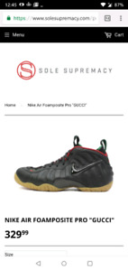 Foamposite gucci size 8.5 brand new for trade or decent cash
