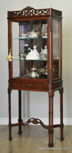 Antique French Chinoiserie Style Vitrine Display Curio Cabine