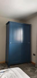 Wardrobe with 2 sliding doors, Ikea Hemnes Blue