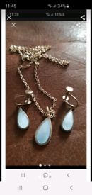 Vintage earrings and necklace set