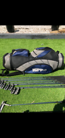 Hippo golf clubs full set and bag