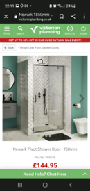 Victorian Plumbing shower door for sale