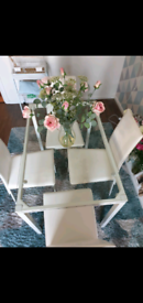 Table and chairs, dining table