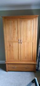 Oak freestanding wardrobe