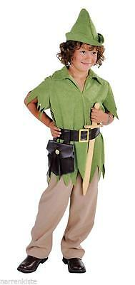 Robin Hood Peter Pan Jäger Kostüm Jägerkostüm Kinder Junge Mittelalter Hut ()