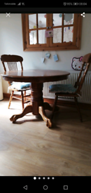 Dining table and 3 chairs.