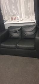 FREE!! Black leather sofas