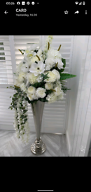 Large artificial flower arrangement