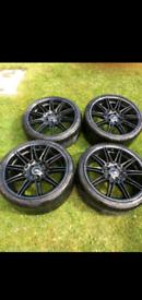 Genuine set of bmw mv4 staggered wheels E92 E90 E91 F30 F32