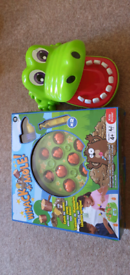 Whack a mole and crocodile dentist games