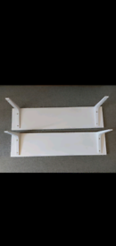 Ikea White shelves x2 with fitted brackets