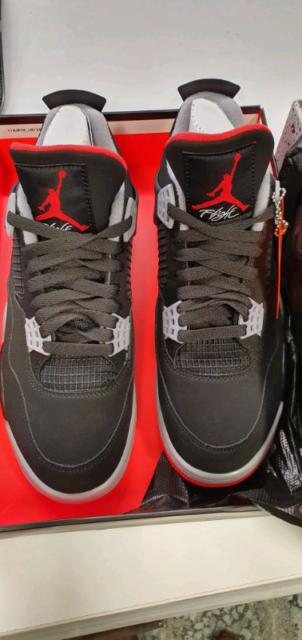 purchase cheap a9ee6 ffc0c Nike Air Jordan 4 Retro Black Cement Bred US8