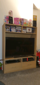 """Large Sturdy Entertainment Unit - fits TV up to 50"""""""