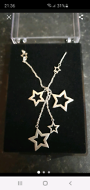 New silver 🌟 stars necklace