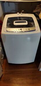 GE Portable Washer with Wheels, Large Super Wash Capacity
