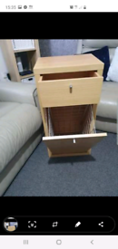 Sturdy IKEA storage unit pull down basket