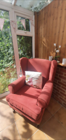 FREE 2 Red Wingback Armchairs
