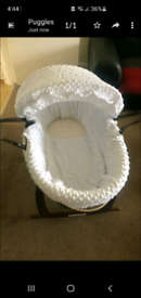 Beautiful moses basket
