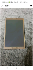 """Samsung Galaxy Tablet Tab SM-T700 16GB, Wi-Fi, 8.4"""" BRONZE WITH COVER"""