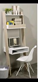 Ladder Desk - white and oak