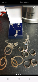 Joblot silver jewellery